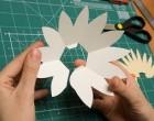 Поделки из бумаги: открытка в технике pop-up «Лотос»