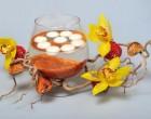 Новогодние поделки: свечи и орхидеи